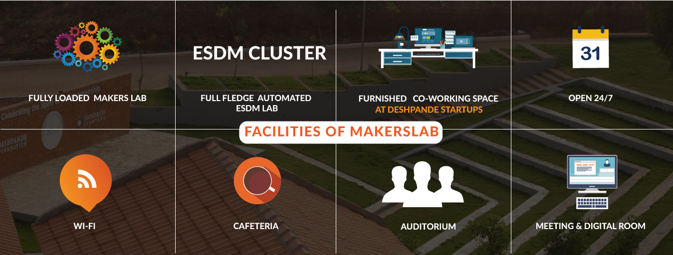 Deshpande Startups, makers lab facilities